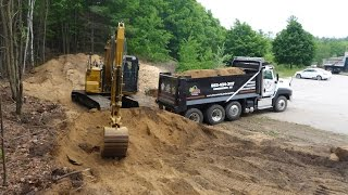 Cat 313F GC Loading Dump Truck With Fill
