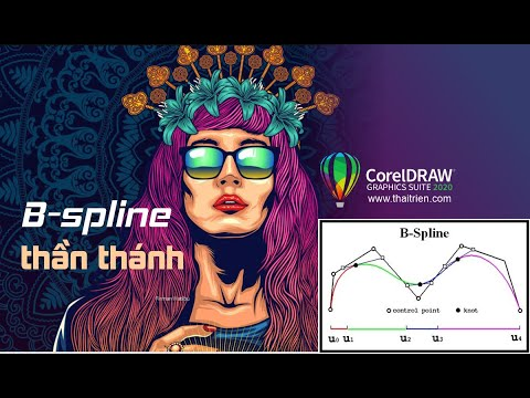 Hướng dẫn dùng B-spline vẽ logo bằng corel 2020 cực nhanh