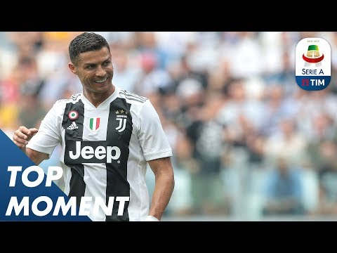 Ronaldo's First Goal In Serie A   Top Moment    Serie A thumbnail