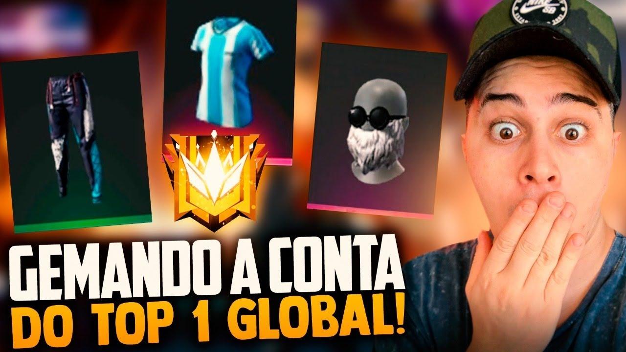 🚩GEMANDO A CONTA TOP 1 GLOBAL DO INSCRITO !! LOUD MEGA!! SOLO RANKED!🔴FREEFIRE AO VIVO - LIVE