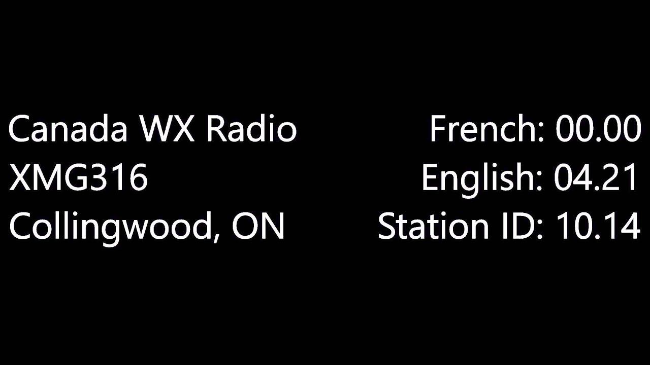 Weather Radio Canada (XMG316)
