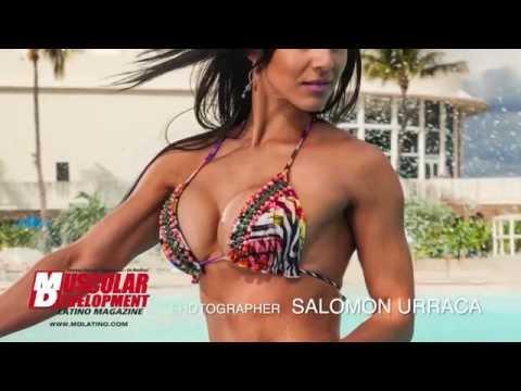 Eva Andressa Sesión de Fotos en Miami Beach Beach Body Gym