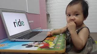 Nhật ký học tiếng Anh Monkey Junior của chị Đại 1 tuổi ngày 21-05-2019