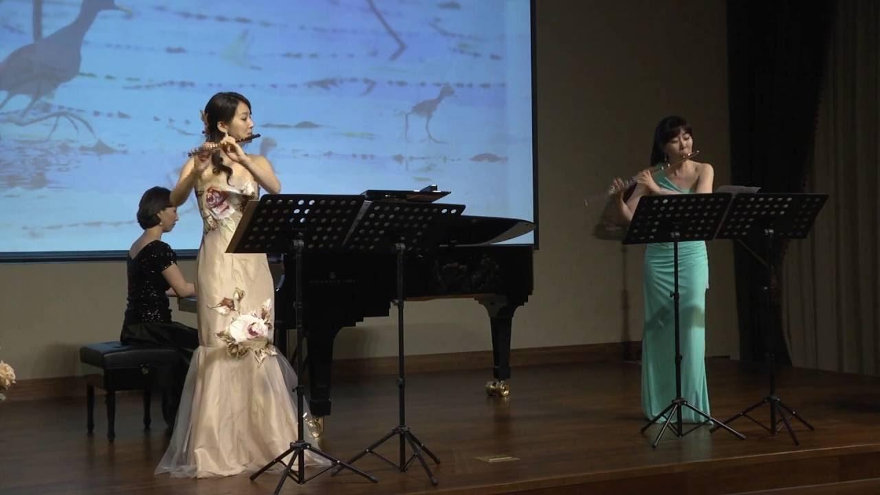 Flower Duet (꽃의 이중창): 플룻 목정윤 이주희, 피아노 이수영 - YouTube
