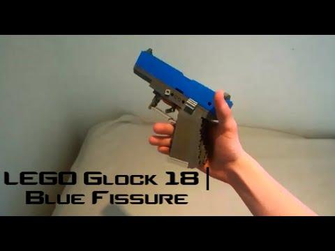 Counter Strike Global Offensive Lego Glock 18 Blue Fissure