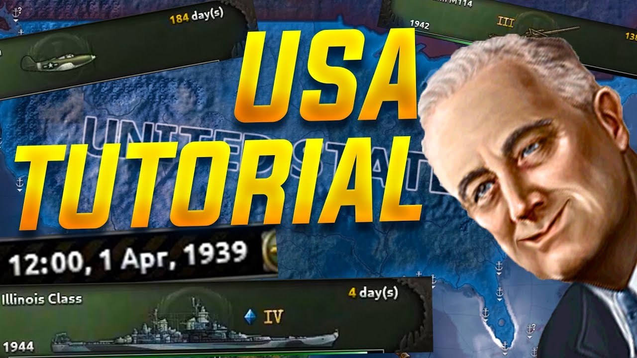 Hearts of Iron IV How to Play as The USA in 2018 (HOI4 Tutorial Guide)