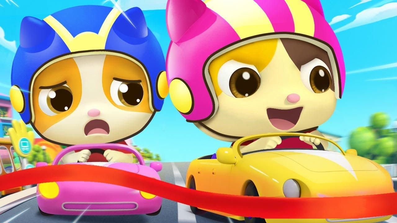Кто Быстрей❓ | Игра Гонки Котов | Развивающая Песенка Для Малышей | Детская Песенка | BabyBus