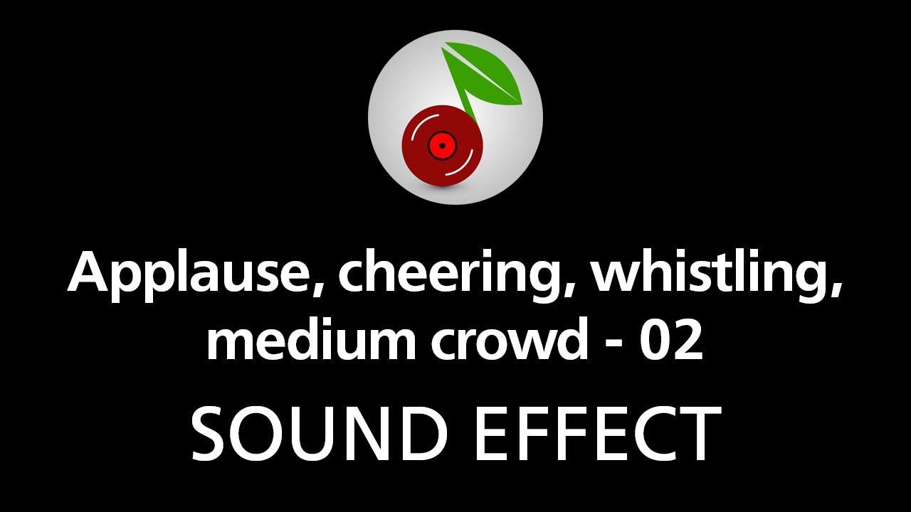 Applause, cheering, whistling, medium crowd - 02