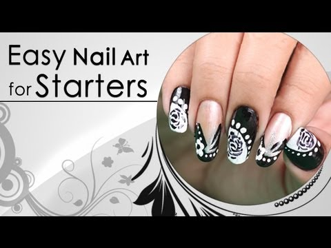 easy nail art design for starters  do it yourself