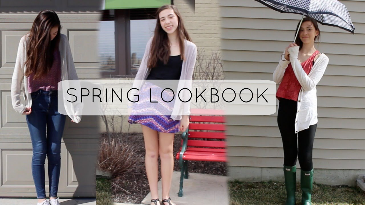 Spring Lookbook 30 - outfits for the rain, school & more!
