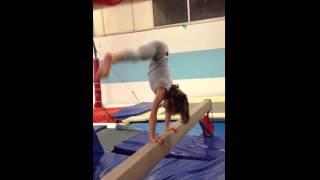 Ginnastica artistica Maschile allenamento verticale di forza sulla trave tutorial come fare