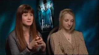 Evanna Lynch and Bonnie Wright interview by Slink