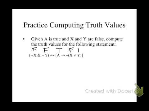 Computing truth values in formulas where all the truth values are known