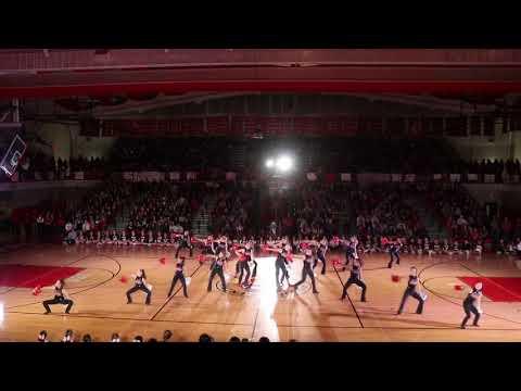 Hinsdale Central Varsity Poms 2018 Pep Rally