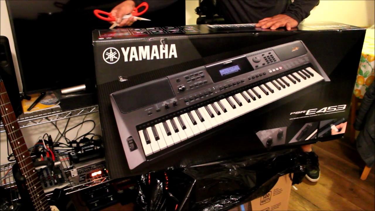 Yamaha Psr E453 Unboxing Youtube