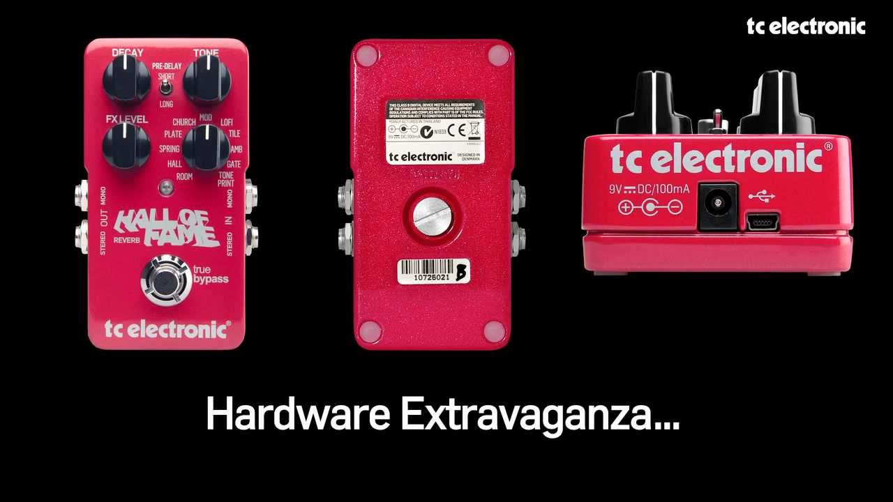 Tc Electronic Hall Of Fame Reverb Guitar Pedal Youtube