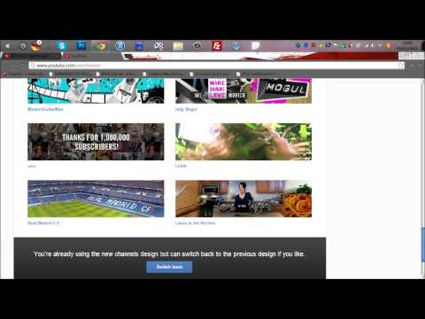 How  To Change back back to your old youtube channel Design 2013