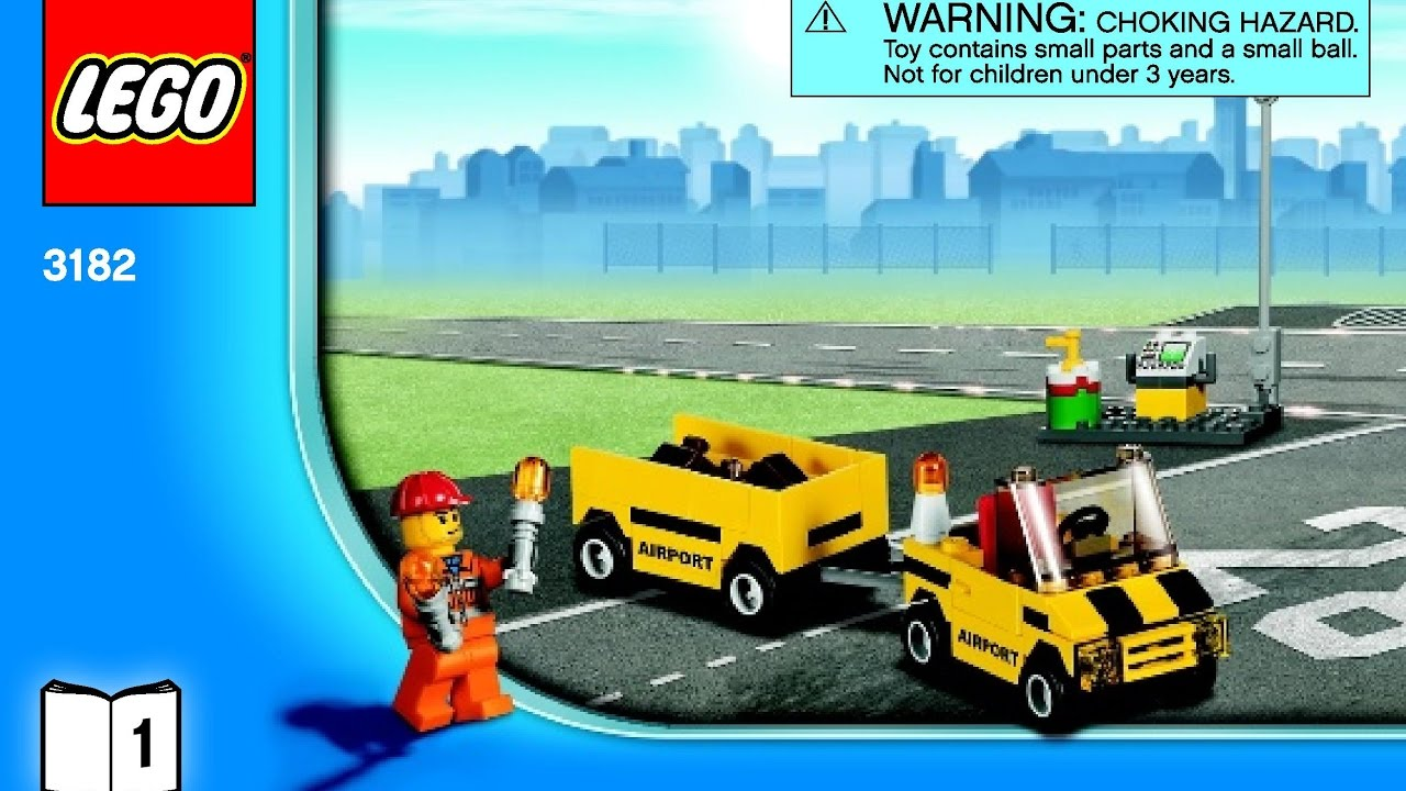Airport 3182 Lego City Instructions Diy Book 1 Youtube