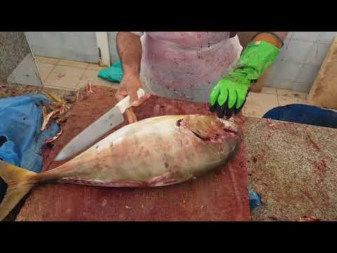 Golden Salmon Fish Fillet By Knife।Salmon Fish Fillet Skills