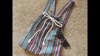 Faça você mesma uma linda mochilinha para Primavera/Verão