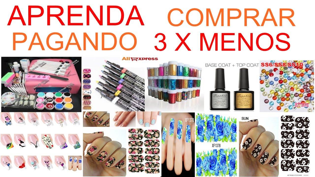 562ea2347 Como comprar produtos e acessórios para unhas(PAGANDO ATÉ 3X MENOS ...