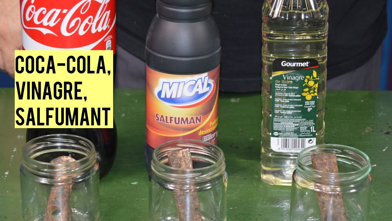Eliminar el oxido comparativa vinagre salfuman y coca - Como quitar el oxido ...