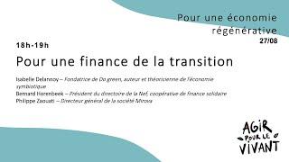 Pour une finance de la transition Isabelle Delannoy