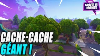 Giant Hide-And-Hide in a Suburb! Fortnite Saving the World
