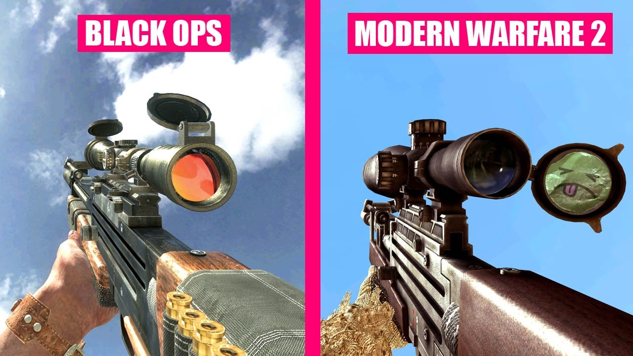 Call Of Duty Black Ops Gun Sounds Vs Call Of Duty Modern Warfare 2