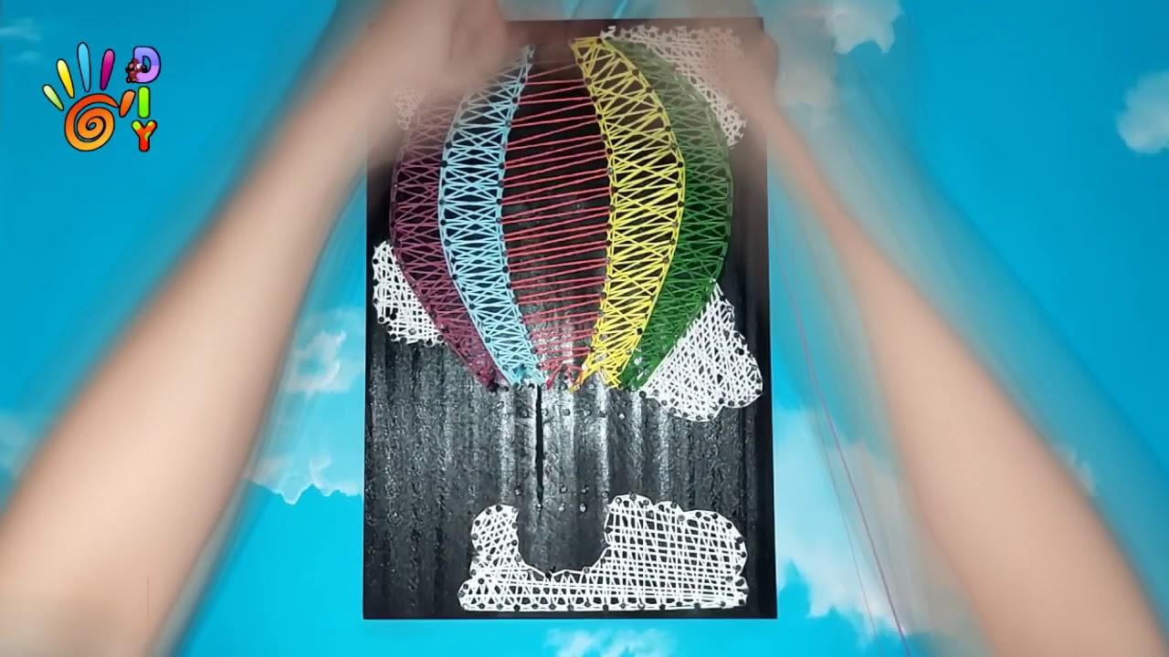 DIY - STRING ART TIME LAPSE/TRANH CHỈ ĐINH | KHINH KHÍ CẦU ...