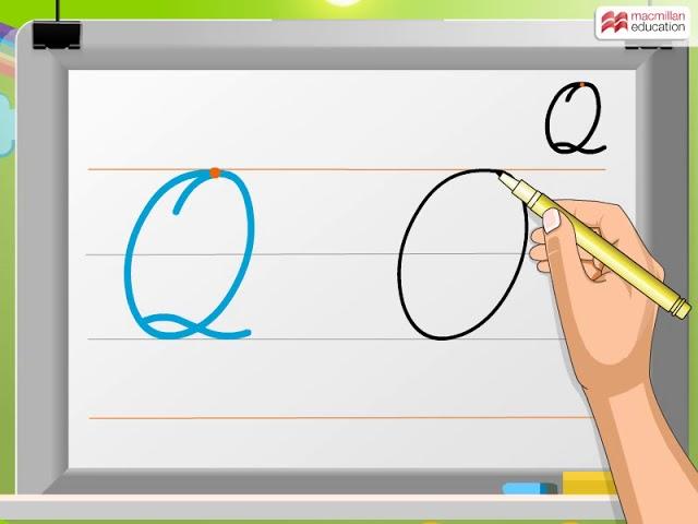 how do you write a capital q in cursive