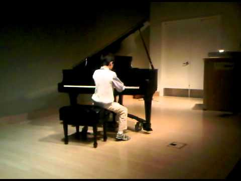 Zachary Lin in the Santa Monica Academy of Music recital