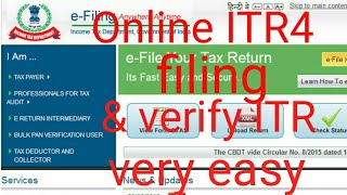 HOW TO FILE ITR4 A.Y 2018- 19 इनकम टैक्स रिटर्न इनकम टैक्स रिटर्न कैसे फाइल करे ?