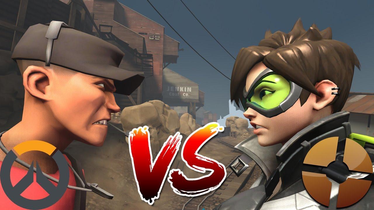 (Animation) Overwatch vs TF2 - YouTube