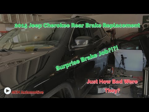 How To Replace The Rear Brakes – 2014-2018 Jeep Cherokee KL