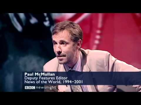 Alastair Campbell & Paul McMullan Hacking Debate on Newsnight - NOTW Phone Hacking