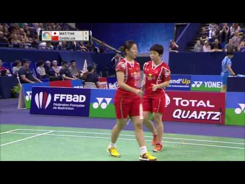 Yonex French Open 2016 | Badminton SF M4-WD | Mat/Tak vs Chen/Jia