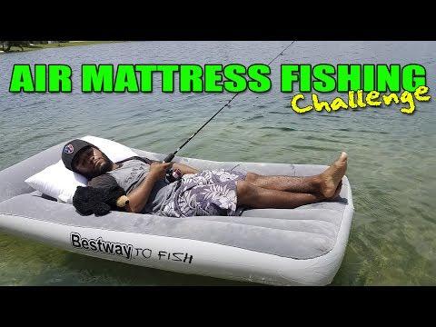 AIR MATTRESS FISHING Challenge!!!