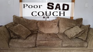 Poor Sad Couch- An Upcycle Tutorial