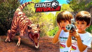 Los Coleccionistas de DINO RIVALS Jurassic World, en Las aventuras de Dani y Evan