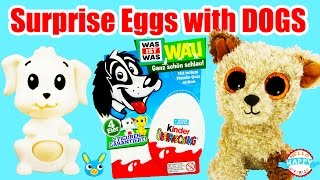 Kinder Surprise Eggs With Dogs - Kinder Überraschungseier Mit Hunden