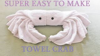 Towel Crab folding, with ambient music.