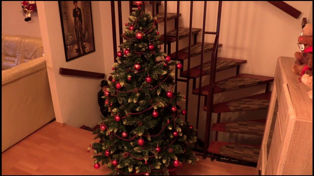 weihnachtsbaum christbaum k nstlich 180 cm weihnachtsdeko youtube. Black Bedroom Furniture Sets. Home Design Ideas