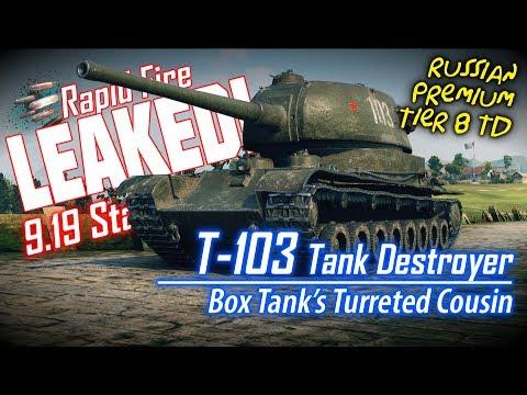 LEAKED! T-103 Tank Destroyer Stats || World Of Tanks