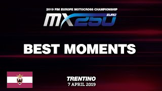 EMX250 Race2 Best Moments   Round of Trentino 2019 #motocross