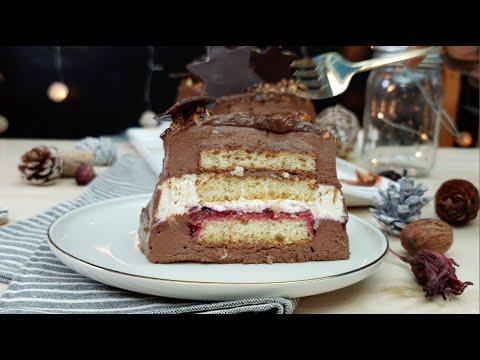 bûche-de-noël-ganache-montée-chocolat-noir-et-blanc-et-gelée-de-bissap-avec-@danomilksn