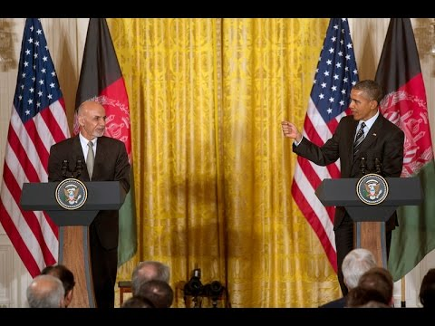 President Obama meets with the President of Afghanistan