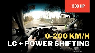 Power Shifting and Launch Control 265 whp 0-200 km/h - 16,3 sec ---...