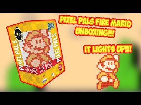 Pixel Pals Fire Mario (Super Mario Bros. 3) Unboxing - It's really cool!