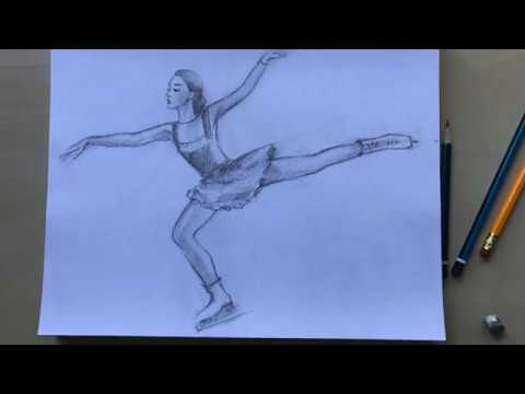 Free Drawing Tutorial How To Draw A Figure Skater, With Natalka Barvinok